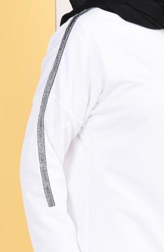 Striped Tunic Trousers Double Suit 9353-03 Ecru 9353-03