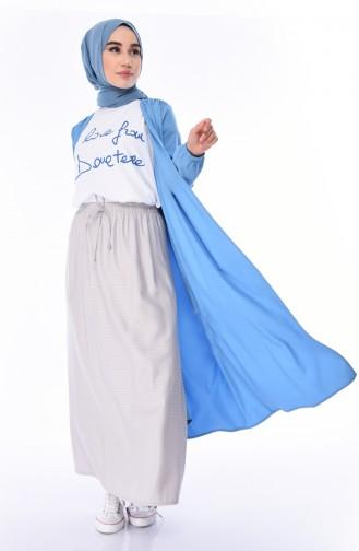 Jupe Taille élastique 1128D-01 Gris 1128D-01