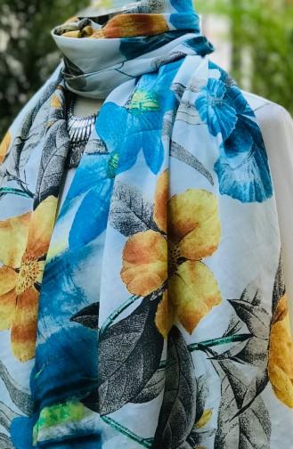 Turquoise Sjaal 61069-01