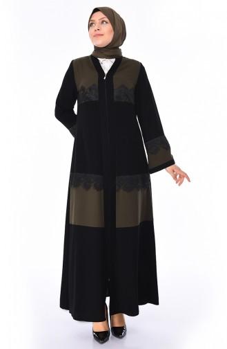 Khaki Abaya 0011-03