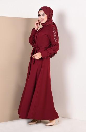 Claret red Abaya 9094-04