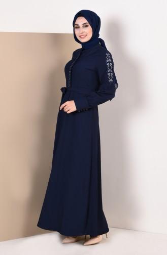 Navy Blue Abaya 9094-05