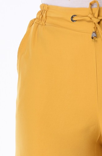 Tensel Bol Paça Pantolon 3141-01 Hardal