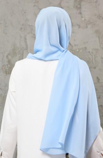 Châle Mousseline 13001-31 Bleu Bébé 13001-31