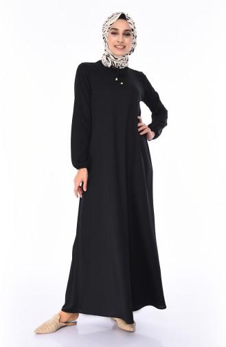 Black İslamitische Jurk 9696-02