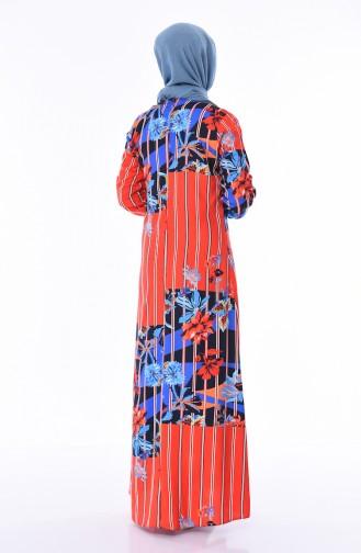 Robe Viscose 4522G-01 Rouge Bleu Roi 4522G-01