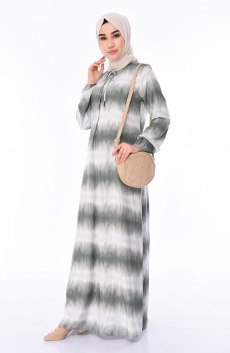 فستان كاكي 4522K-01