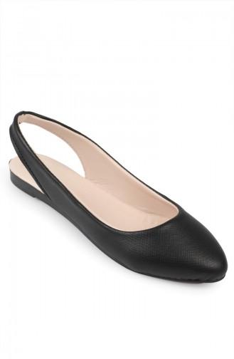 Black Woman Flat Shoe 6581-1