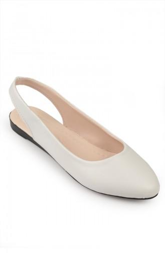White Woman Flat Shoe 6582-2