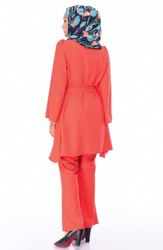 Ensemble Deux Pieces Tunique Pantalon 0218-19 Corail 0218-19