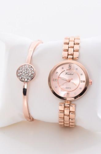 Watchart Combinaison Montre Pour Femme CW211069 Cuivre 211069