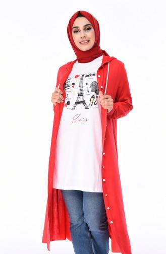 T-shirt Imprimé 0544-01 Blanc 0544-01