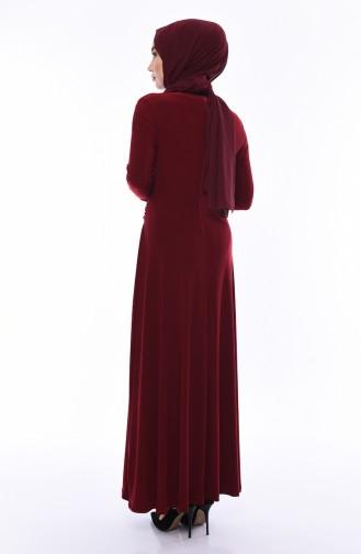 Robe Hijab Bordeaux 0010-01