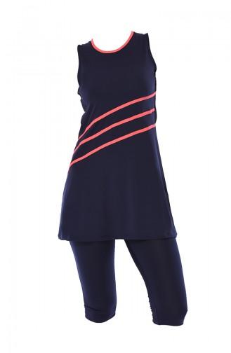 Maillot de Bain Sans Manches 1917-01 Bleu Marine 1917-01
