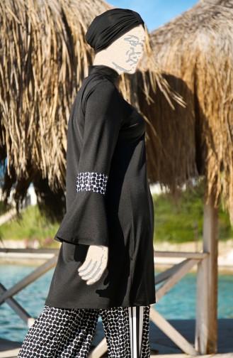 Black Swimsuit Hijab 1960-01