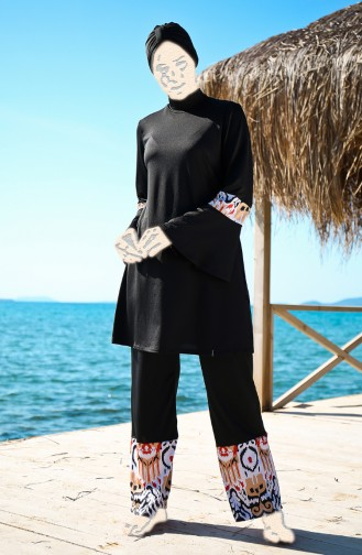 Black Swimsuit Hijab 1961-01