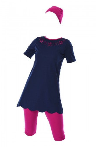 Navy Blue Swimsuit Hijab 0312-07
