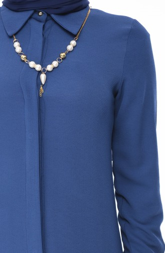 Tunika mit Halskette 4224-13 Koyu Indigo 4224-13