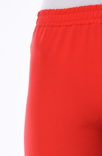 Pantalon Pattes éléphan Taille élastique 2302-02 Rouge 2302-02
