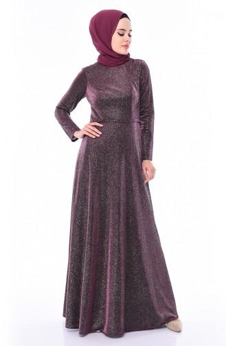Damson Islamic Clothing Evening Dress 9008-03