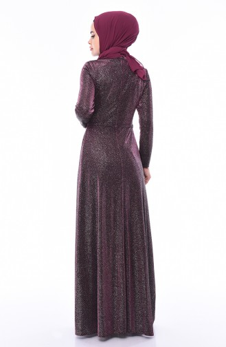 Silbernes  Abendkleid 9008-03 Zwetschge 9008-03