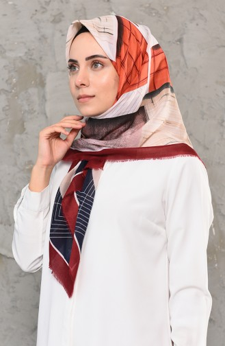 Claret red Scarf 2297-08