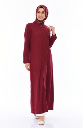 Abaya a Fermeture 22207-02 Bordeaux 22207-02