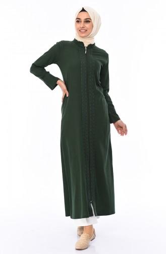 Green Abaya 22207-07