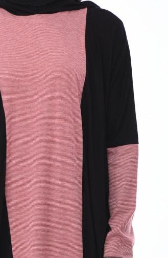 Robe 1219-01 Noir Rouge 1219-01
