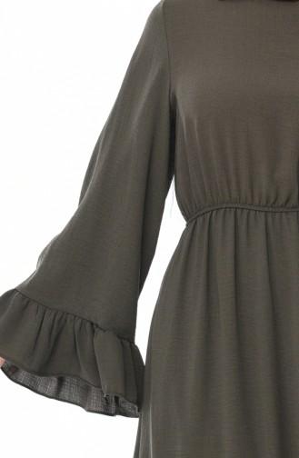 Robe Froncée Tissu Aerobin 5029-02 Khaki 5029-02