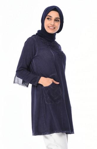 Tunique avec Poches 95202-02 Bleu Marine 95202-02