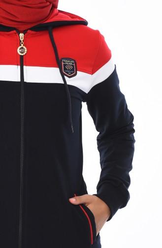 بدلة رياضية بتفاصيل جيوب 95020-01 لون كحلي 95020-01