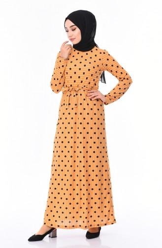 Gelb Hijap Kleider 4198-04