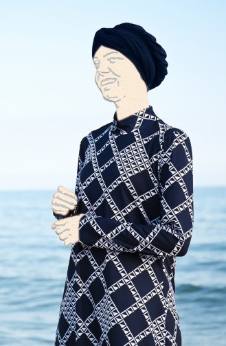Navy Blue Swimsuit Hijab 1963-01