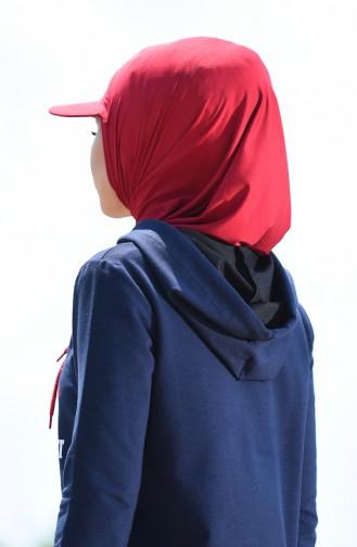 Claret red Sport Scarf 0732-08
