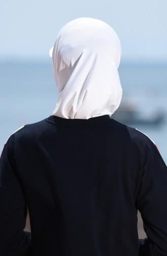 Sefamerve Spor Eşarp 0732-06 Ekru
