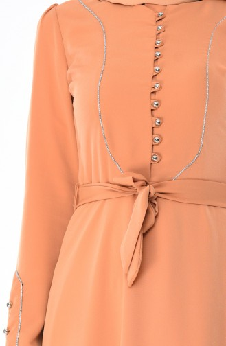 Silvery Dress 8152-05 Mustard 8152-05