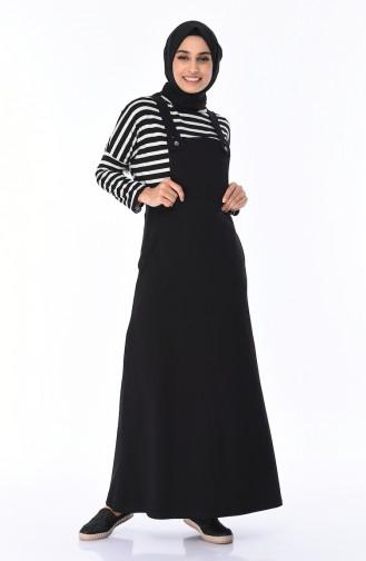 Salopet Gilet Kleid 7012-01 Schwarz 7012-01