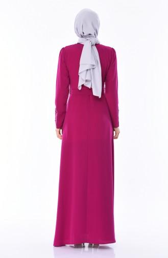 فستان بتفاصيل لامعة 8152-02 لون ارجواني 8152-02