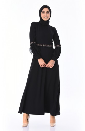 Robe Brodée 0998-01 Noir 0998-01