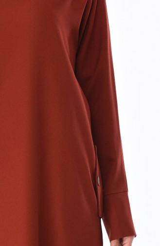 Robe Détail Poches 0246-03 Brique 0246-03