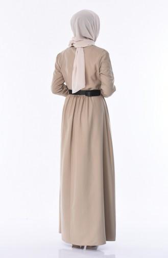 Kleid mit Falbel 8140-02 Nerz 8140-02
