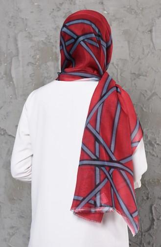 Châle Coton a Motifs 901500-11 Bordeaux 901500-11
