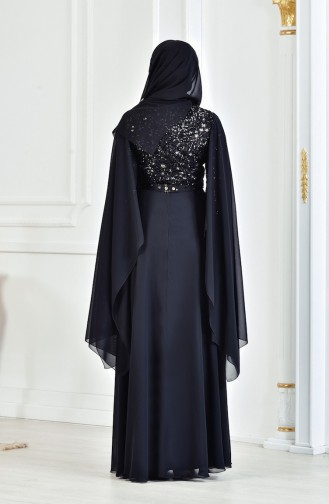 Robe de Soirée a Paillette 3284-05 Noir 3284-05