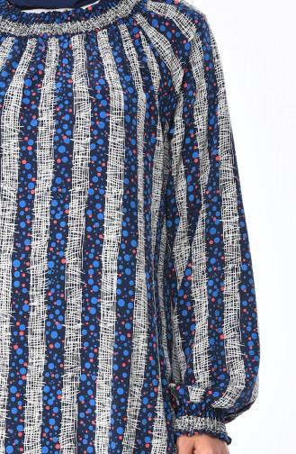 فستان أزرق كحلي 0080-01