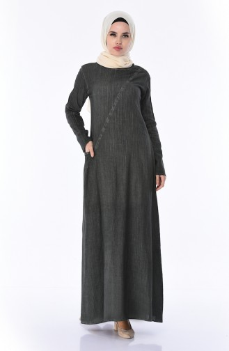 Robe 9023-08 Vert Khaki 9023-08