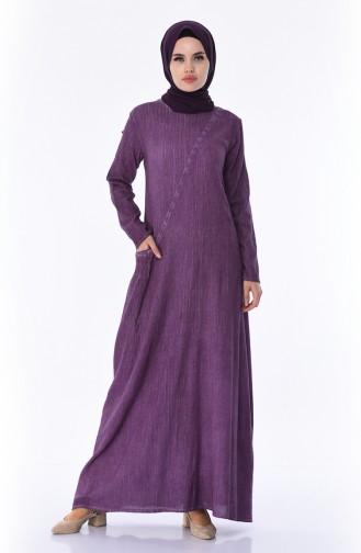 Purple İslamitische Jurk 9023-09
