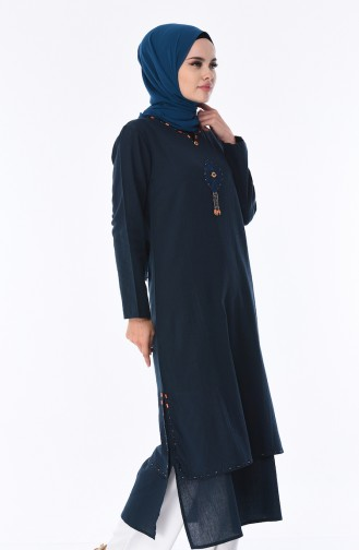 Oil Blue Tunic 22204-05