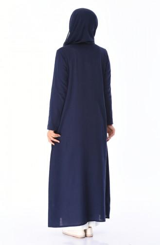 Navy Blue Abaya 22223-08