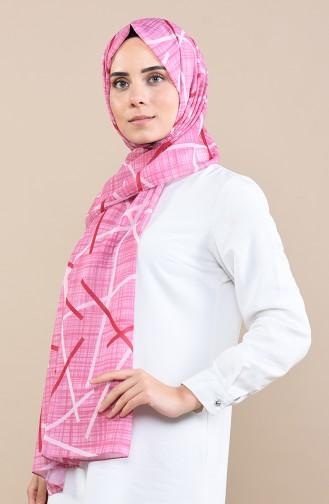 Gemusterter Chiffon Schal  13057-07 Pink 13057-07